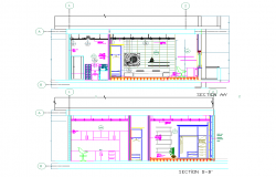 Section house project plan autocad file