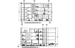 Section housing departments 2 d detail dwg file