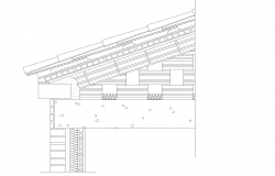 Section inclined roof plan detail dwg file.
