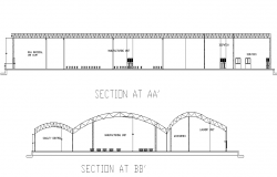Section industrial plan detail dwg file