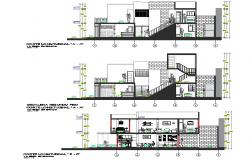Section modular housing plan layout file