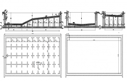 Section of pool top view dwg file