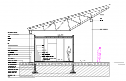 Section of swimming pool plan detail dwg file,