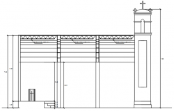 Section of the church in AutoCAD