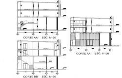 Section office plan autocad file
