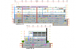 Section office plan detail
