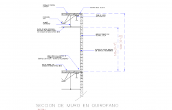 Section operating room plan detail dwg file.