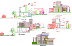 Section plan and Elevation design House