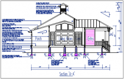 Section plan foundation detail dwg file
