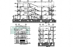 Section project house 2 d room plan detail