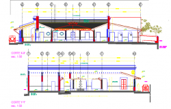 Section renovation of commercial premises plan autocad file