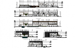 Section residential house 50x25m plan layout file