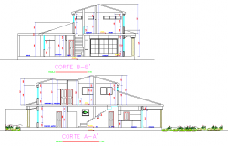 Section residential housing layout file