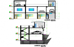 Section single family autocad file