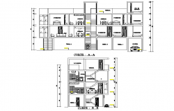 Section single family home detail autocad file
