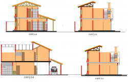 Section single family home detail dwg file