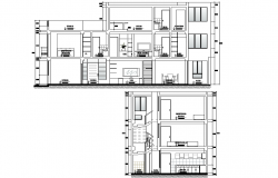 Section single family home plan detail dwg file