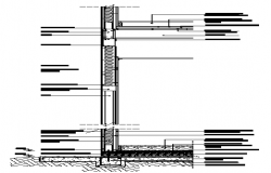 Section steel framing drywall design drawing
