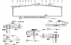 Section structural market detail autocad file