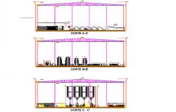 Section sugar factory plan detail