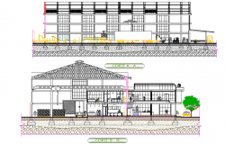 Section tempered glass factory plan detail
