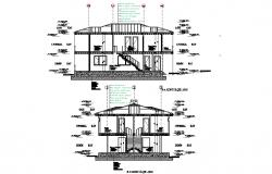 Section twin villa layout file