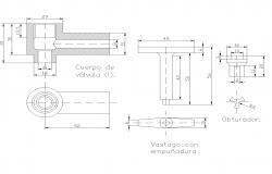 Section valve plan detail dwg file