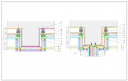 Section view detail of foundation treatment detail dwg file