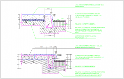 Pile cap section reinforcement drawing