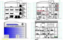 Section working plan detail dwg file