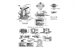 Sectional detail of a machinery dwg file