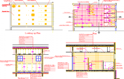 Sectional details of a building dwg file