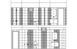 Sectional drawing of the bathroom in autocad