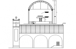 Sectional elevation of the church