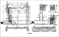 Sectional elevation with view of exterior and interior view with structural view for bridge dwg file