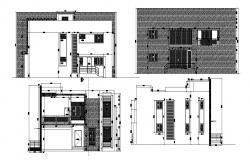 Sectional elevations of house in dwg file