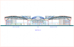 Sectional view of airport design