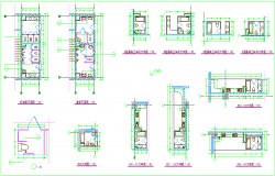 Sectional view of column for washing area dwg file