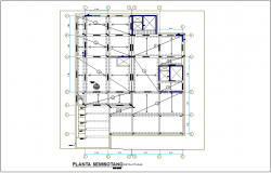 Semi ground plan for regional area dwg file