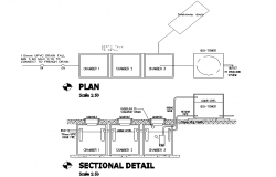 Septic Tank Plan & Section design