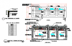 Septic Tank detail design drawing