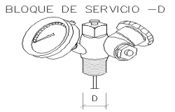 Service block design drawing