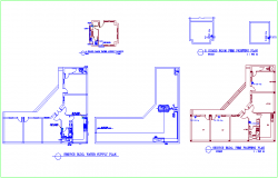 Service building water supply and fire fighting line view dwg file