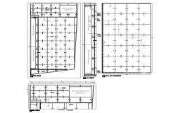 Service hygiene area distribution and framing plan details dwg file