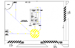 Service station plan autocad file