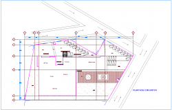 Set plan of clinic dwg file