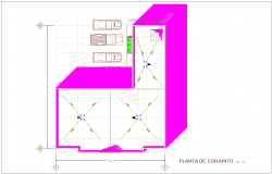 Set plan with parking area view for municipal agency dwg file