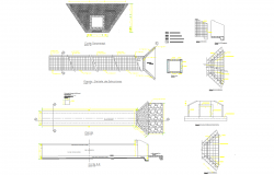 Sever systems detail cad drawing