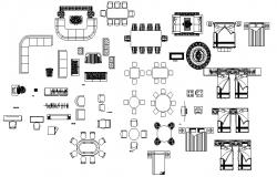 Several furniture blocks cad drawing details dwg file