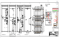 Sewage facilities in building drawing file.